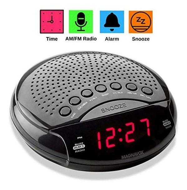 Radio Reloj FM Magnavox MR45330DV Black